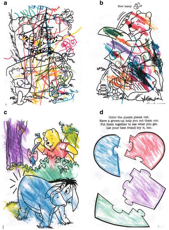 Évolution des capacité de colorier d'une jeune fille de 17 ans au fil de ses traitements
